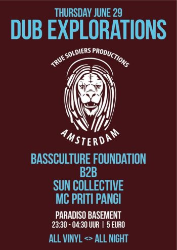 DUB Explorations at Paradiso: Bassculture Foundation b2b Sun Collective